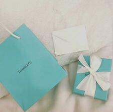 Tiffany & Co. Packing Empty Blue Gift Box, Draw String Pouch, Bag, Ribbon & Card