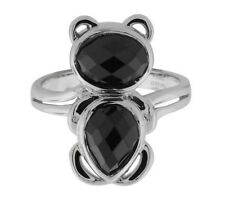 Fashionable Bear Ring over Sterling Silver in size 8