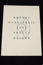 Arnulf Rainer - Rhenus Kunstpreis 2003 - Infomappe? mit Druck Zahn und Weh selte