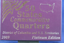 2009 DC & US Territories 50 states Commemorative Quarters Platinum Edition