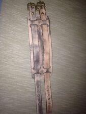 Manchette Bracelet Large Cuir Beige homme femme Mixte attache ceintures
