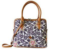 Oilily Tasche Flower Swirl M Carry All Charcoal Handtasche Umhängetasch Grau