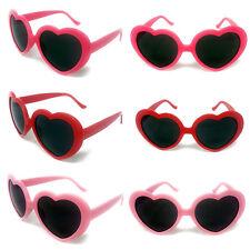 Heart Shape Sunglasses Black Lenses Womens Ladies Girls Teen Fashion Love Lolita