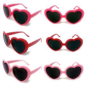 FASHION LOVE HEART OVERSIZED RETRO LOLITA CAT EYE WOMEN SUNGLASSES 400 UV UK