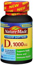 Nature Made Vitamin D3 1000 IU Value Size 180 Count Softgels