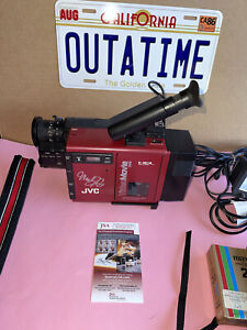 MICHAEL J FOX SIGNED BACK TO THE FUTURE  JVC Orig. Video Camera JSA WITNESSED