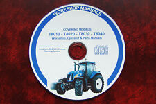 New Holland T8010 T8020 T8030 T8040 Workshop Manual + opérateur + pièces manuels