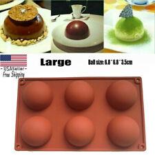 Large 6 Cups Hemisphere Shape Silicone Cake Mold Half Ball Chocolate Mould