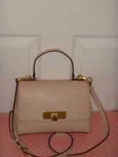 f7c53398be08 MICHAEL KORS Women MK Callie Satchel Shoulder Bag Ballet Leather Gold  38H6XYAM1L