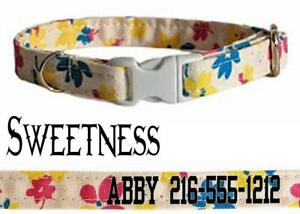 Personalized Cat Collar Safety Breakaway Buckle Adjustable Cotton Cats Kittens