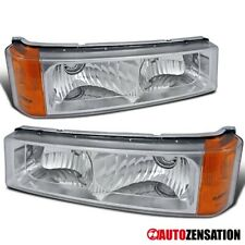 For 2003-2006 Chevy Silverado Avalanche Clear Lens Bumper Lights Parking Lamps