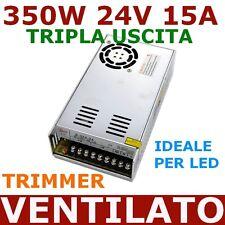Alimentatore UNIVERSALE Ottima Qualità 24V 15A 350W trimmer STRISCIE BARRE LED