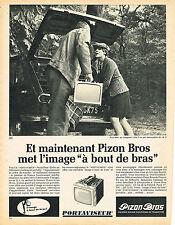 PUBLICITE ADVERTISING   1966   PIZON BROS  téléviseur portaviseur