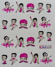 "Nail Art Decal Stickers ""Pink Betty Boop""  Water Transfer Decal Sticker *NEW*"
