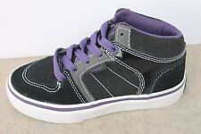Vans (CS) Ellis Mid, Suede Black/Purple/Grey Toddler Sk8 Shoe Size 10.5