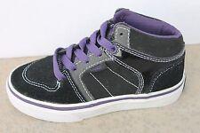 Vans (CS) Ellis Mid, Suede Black/Purple/Grey Toddler Sk8 Shoe Size 10.5