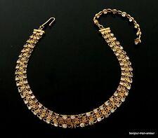 Designer HATTIE CARNEGIE Strass Choker Collier Halskette Necklace Collana