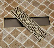Shower Room Floor Drain Carved Strainer Antique Waste Water Drainer For Bathroom