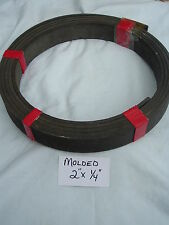 """NOS FLEXIBLE MOLDED ROLL BRAKE SHOE LINING 2"""" OR 2 1/2"""" OR 3""""- WIDE X 1/4"""" THICK"""
