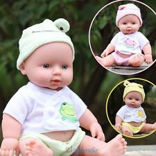Newborn Baby Doll Gift Toy Soft Vinyl Silicone Lifelike Newborn KidsToddler Girl