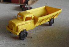Vintage 1950s Soft Plastic WannaToy Yellow Dump Truck