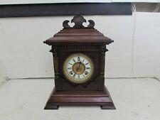 Antique Ansonia Clock Co Sharon Strike 8 Day Mantel, Cabinet Clock, Fully Runnin