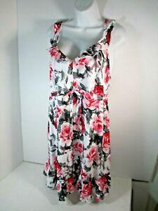 Cacique Lane Bryant Printed Floral Ruffle Chemise Babydoll Sleepwear MWT 18/20