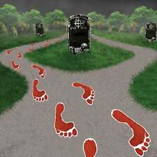 14 x Bloody Feet Footprints Floor Halloween Party Decorations Spooky Props