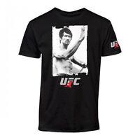 UFC Bruce Lee Snapshot Black T-Shirt Photo Tee Jeet Kune Do Karate MMA Roots