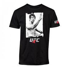 UFC Bruce Lee Snapshot Black T-Shirt Photo Tee Jeet Kune Do Karate MMA S M L XL