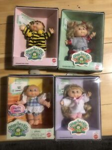 """Lot of 4 Cabbage Patch Kids """"Kid"""" & """"Baby""""  Collectible 5"""" Dolls 1997 New In Bix"""