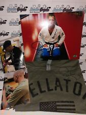 ROYCE GRACIE MMA BELLATOR SIGNED AUTOGRAPHED SHIRT & 8X10 PHOTO LOT-PROOF COA