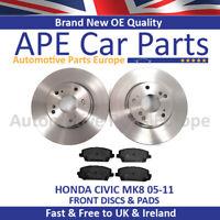 Honda Civic 1.4 1.8 2.2 CDTi 2005-2012 Front Brake Discs & Pads New