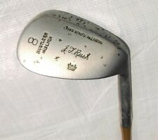Vintage Hand Forged Niblick 8 Iron, J T Rush, Leather grip, Used