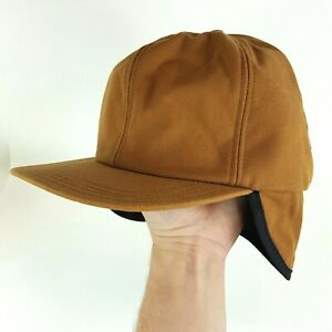 VTG 90s Thinsulate Lined Duck Canvas Size M USA Trapper Hunting Cap Winter Hat
