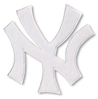 New York Yankees Patch Jersey Hat Cap Lettering Interlocking 'NY' White Logo MLB