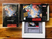Street Fighter Alpha 2 SNES Super Nintendo CIB Complete Box Manual GOOD CAPCOM