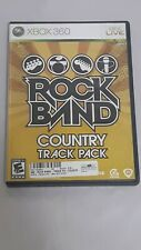 Rock Band Country Track Pack (Xbox 360, 2009) Complete Game Disc Case & Manual