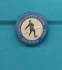 Laconia Winter Club Badge 1923 Scarce