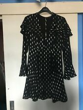 Guess Ladies Womens Skater Style Dress (Black & Gold) Size Small - BNWT
