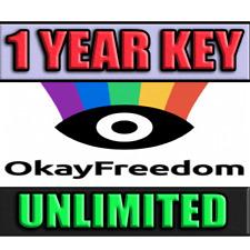 OkayFreedom VPN ⭐PREMIUM 1 YEAR ♾ Unlimited Traffic Serial Number Lowest price🎯