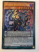 EXFO-EN026 Mythical Beast Jackal King Ultra Rare Near Mint Condition YuGiOh Card