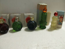 Vtg Avon 5 Christmas decanters full-Festive Facets-Song of Christmas-Candle