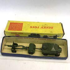 VINTAGE Dinky Toys 25-Pounder campo Pistola Set Nº 697 IN SCATOLA BOX A/F
