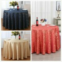 Jacquard Round Tablecloth Polyester Damask Table Cover Party Wedding Table Decor