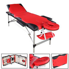 "84""L Portable Massage Table w/Free Carry Case Chair Spa Facial Bed Sheets Pad T6"