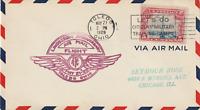 US 1929 LINDENBERGH ANNIVERSARY FLIGHT COVER TOLEDO OHIO TO CHICAGO ILL