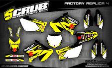 Scrub Suzuki calcomanías gráficos Kit RM 125 250 2001 - 2008 Pegatinas MX' 01 -'08