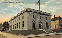 C20/ Cordele Georgia Ga Postcard 1913 Post Office Building