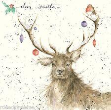 Wrendale Designs Christmas Card NEW Deer Santa baubles robin